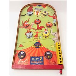 VINTAGE LUCKY 7 PINBALL GAME COMES WITH BALL - APPROX. 18""