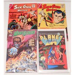 LOT OF 4 VINTAGE VINTAGE COMIC BOOKS