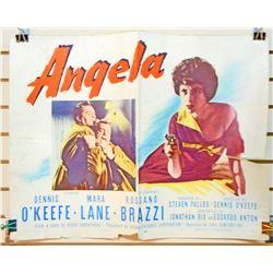 "1955 ANGELA HALF SHEET MOVIE POSTER APPROX. 28"" X 21 1/4"""