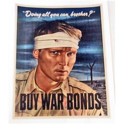 BUY WAR BONDS MUSEUM QUALITY GICLEE 8X10 CANVAS PRINT