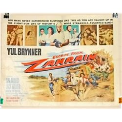"""1961 ESCAPE FROM ZAHRAW HALF SHEET MOVIE POSTER APPROX. 28"""" X 21 1/4"""""""