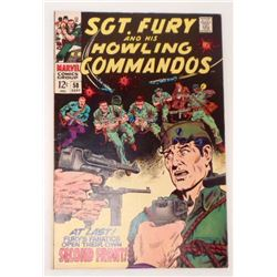 VINTAGE 1968 SGT. FURY AND HIS HOWLING COMMANDOS #58 12 CENT COMIC BOOK