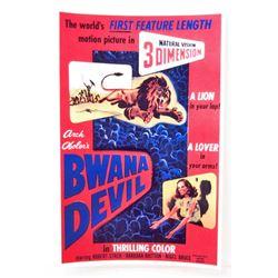 BWANA DEVIL 3D MOVIE POSTER PRINT - 11X17