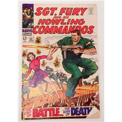 VINTAGE 1968 SGT. FURY AND HIS HOWLING COMMANDOS #55 12 CENT COMIC BOOK