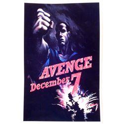 "AVENGE DECEMBER 7TH PEARL HARBOR WW2 PROPAGANDA POSTER PRINT APPROX. 11"" X 17"""