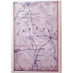 "ANDERSONVILLE RAILWAY CIVIL WAR MAP OF GEORGIA POSTER PRINT APPROX. 11"" X 17"""