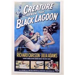 """CREATURE OF THE BLACK LAGOON MOVIE POSTER PRINT APPROX. 11"""" X 17"""""""