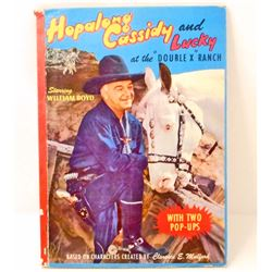 RARE VINTAGE 1950 HOPALONG CASSIDY AND LUCKY POP UP BOOK