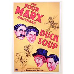 """THE FOUR MARX BROTHERS """"DUCK SOUP"""" MOVIE POSTER PRINT APPROX. 11"""" X 17"""""""
