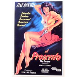 """EL PROSCRITO THE OUTLAW MOVIE POSTER PRINT APPROX. 11"""" X 17"""""""