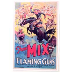"TOM MIX ""FLAMING GUNS"" MOVIE POSTER PRINT APPROX. 11"" X 17"""