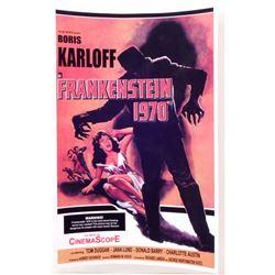 """FRANKENSTEIN 1970 MOVIE POSTER PRINT APPROX. 11"""" X 17"""""""