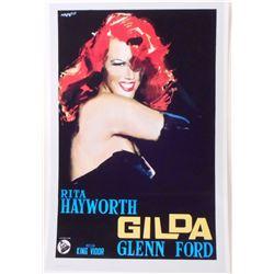"GILDA RITA HAYWORTH MOVIE POSTER PRINT APPROX 11"" X 17"""