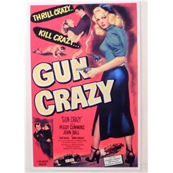 "GUN CRAZY MOVIE POSTER PRINT APPROX. 11"" X 17"""
