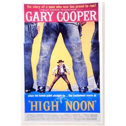 """HIGH NOON GARY COOPER MOVIE POSTER PRINT APPROX 11"""" X 17"""""""