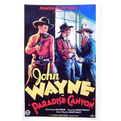 "JOHN WAYNE ""PARADISE CANYON"" MOVIE POSTER PRINT APPROX 11"" X 17"""