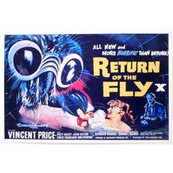 """RETURN OF THE FLY MOVIE POSTER PRINT APPROX 11"""" X 17"""""""