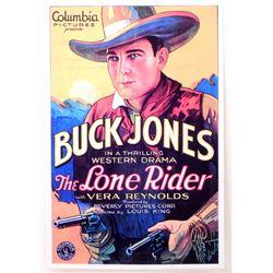"BUCK JONES "" THE LONE RIDER"" MOVIE POSTER PRINT APPROX 11"" X 17"""
