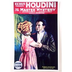 """THE MASTER MYSTERY HOUDINI MOVIE POSTER PRINT APPROX 11"""" X 17"""""""