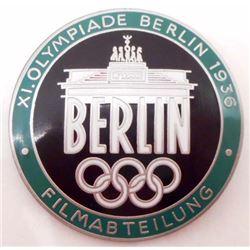 NAZI GERMAN ENAMELED BERLIN OLYMPICS FILM MAKERS BADGE
