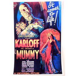 "BORIS KARLOFF ""THE MUMMY"" MOVIE POSTER PRINT APPROX 11"" X 17"""