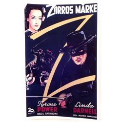 """THE MARK OF ZORRO MOVIE POSTER PRINT APPROX 11"""" X 17"""""""