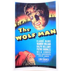 """LON CHANEY, JR. """"THE WOLF MAN"""" MOVIE POSTER PRINT APPROX 11"""" X 17"""""""