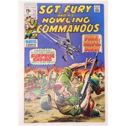 VINTAGE 1969 SGT. FURY AND HIS HOWLING COMMANDOS #71 12 CENT COMIC BOOK