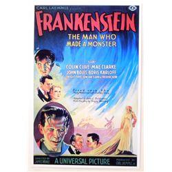 """FRANKENSTEIN MOVIE POSTER PRINT APPROX 11"""" X 17"""""""