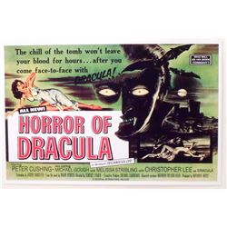 """HORROR OF DRACULA MOVIE POSTER PRINT APPROX 11"""" X 17"""""""