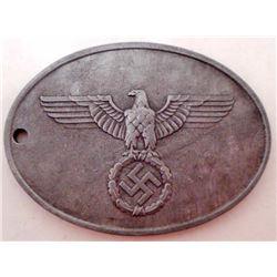 NAZI GERMAN STAATLICHE KRIMINAL POLIZEI ID TAG