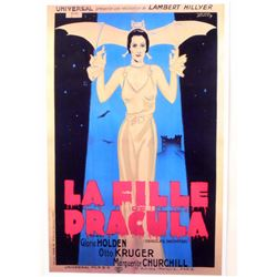 """DRACULA'S DAUGHTER FRANCE MOVIE POSTER PRINT APPROX 11"""" X 17"""""""