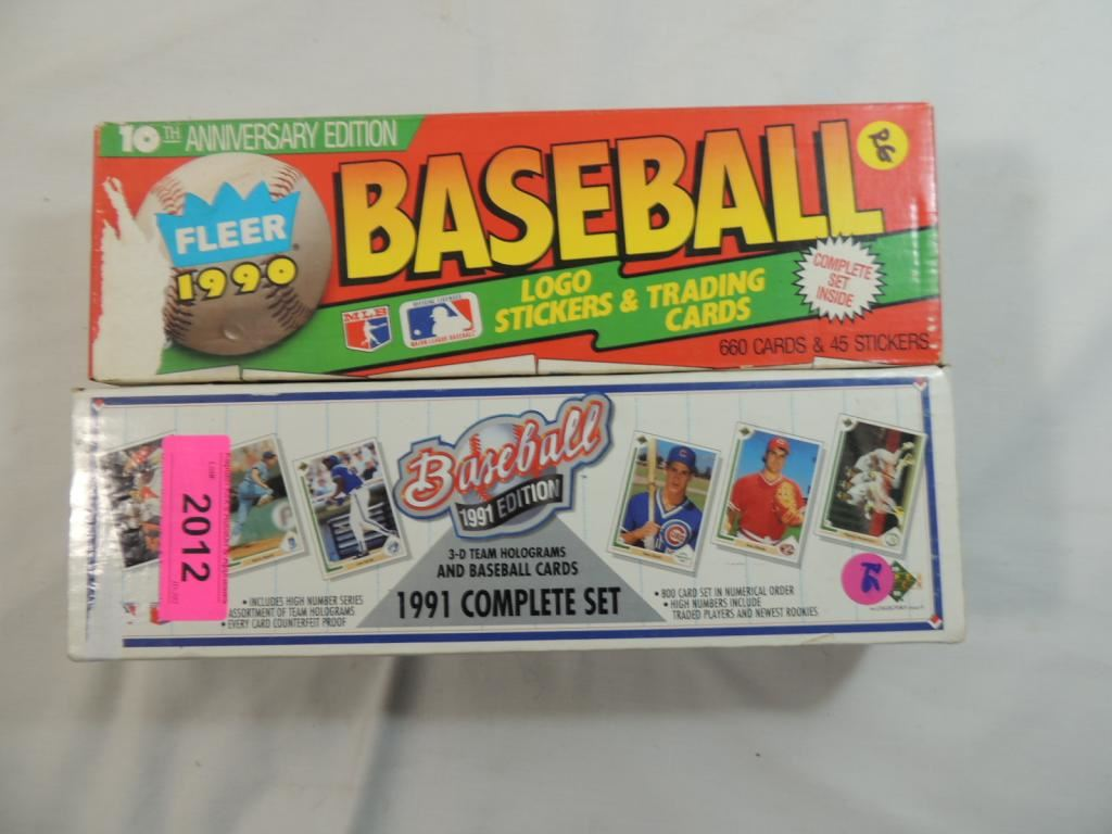 1990 Fleer 1991 Upper Deck Baseball Card Factory