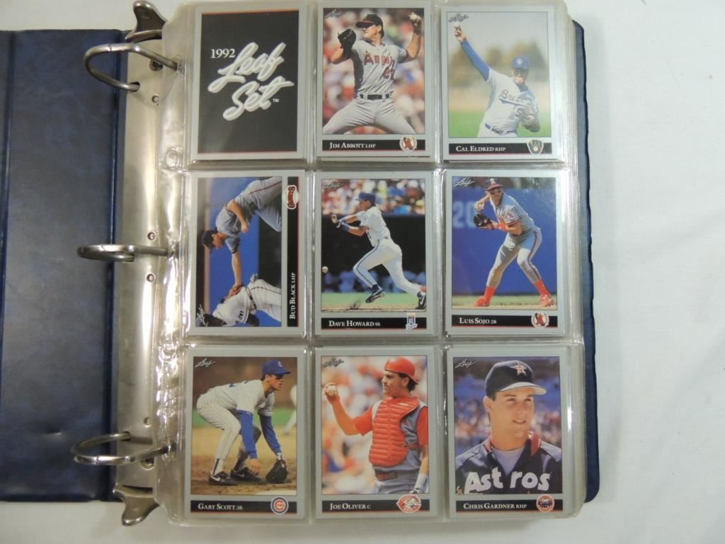 1992 Leaf Baseball Player Cards Binder