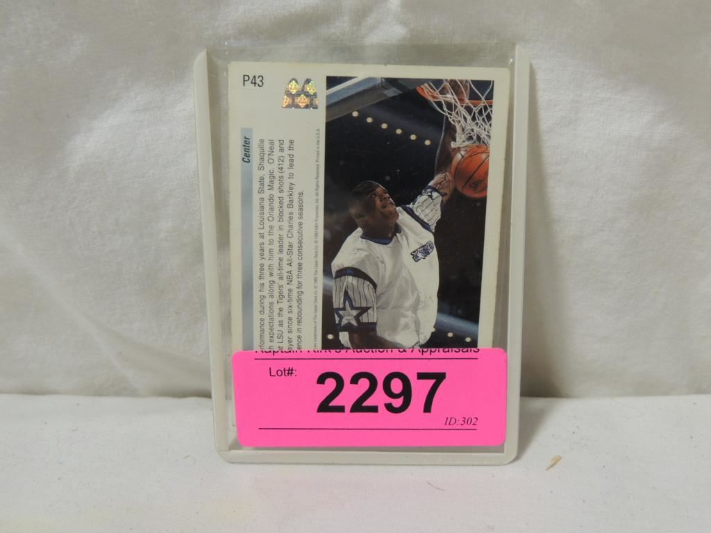 1993 Upper Deck Shaquille Oneal P43 Rookie Card