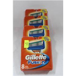 8 CARTRIDGES GILLETTE FUSION