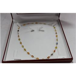 #75 14KT NATURAL SAPPHIRE NECKLACE RETAIL $9,200