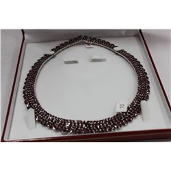 #10 .925 SILVER RUBY NECKLACE REPLACEMENT VALUE