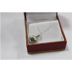 #73 14K WHITE GOLD DIAMOND NECKLACE