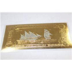 ANTIGUA/ BARBUDA 23K GOLD FOIL $50 BANK NOTE