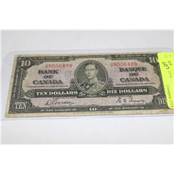 1937 BANK OF CANADA 10 DOLLAR TOWERS/GORDON