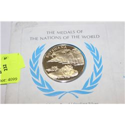 STERLING SILVER FIRST EDITION PROOF BOTSWANA