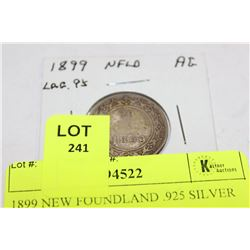 1899 NEW FOUNDLAND .925 SILVER 20 CENTS