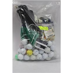 LARGE BAG FULL OF GOLF BALLS & ACCESSORIES
