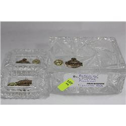 BOHEMIAN PINWHEEL CRYSTAL CIGARETTE BOX