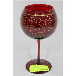 RED CRYSTAL GLASS