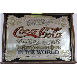 COCA COLA MIRRORED SERVING TRAY