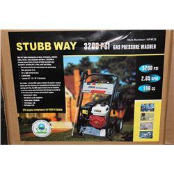STUBB WAY 3200 PSI GAS PRESSURE WASHER