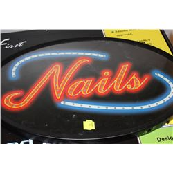 NEW IN BOX LED NAILS SIGN