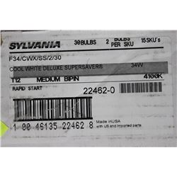 BOX OF 30 SYLVANIA ENERGY EFFICIENT FLUORESCENT